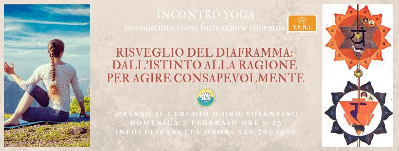 locandina evento yoga del risveglio diaframma
